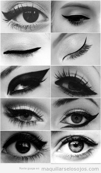 10 formas diferentes de pintar el eyeline el delineador de ojos
