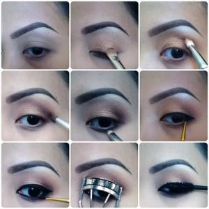 maquillaje ojos fotos paso a paso tutoril como pintarse ojos verdes 300x300jpg - Pintarse Los Ojos