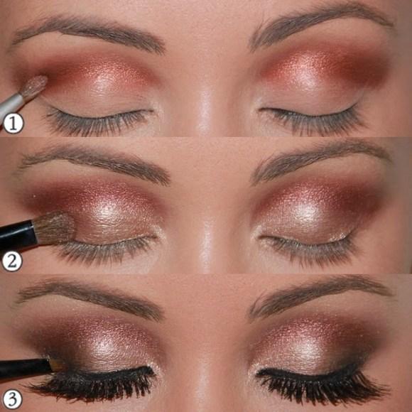 Tutorial con fotos paso a paso sobre cómo maquillarse los ojos con piel oscura o negra