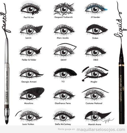 18 formas diferents de dibujar tus ojos con un delineador acuoso