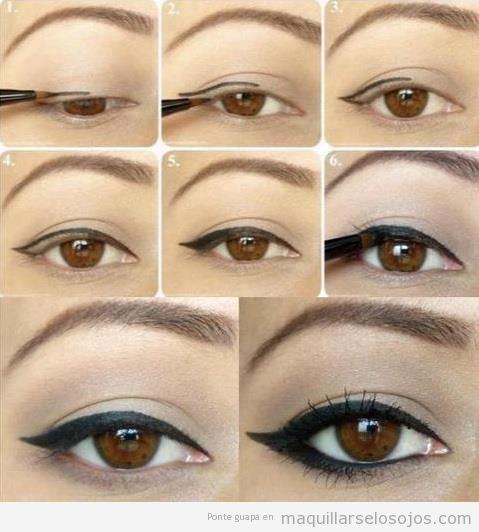 Tutorial paso a paso para aprender a dibujar el eyeline estilo árabe