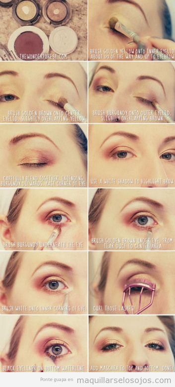 Tutorial sencillo y paso a paso para aprender a maquillarse los ojos en tonos marrones