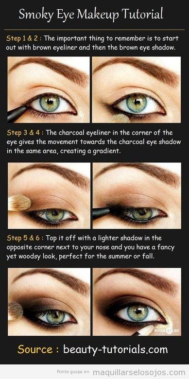 tutorial con fotos paso a paso para pintarse ojos ahumados