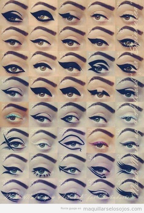 40 formas distintas de perfilar ojos o aplicar eyeliner