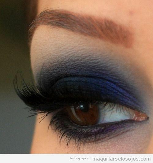 azul maquillarse los ojos todo sobre el maquillaje de On ojos ahumados azul
