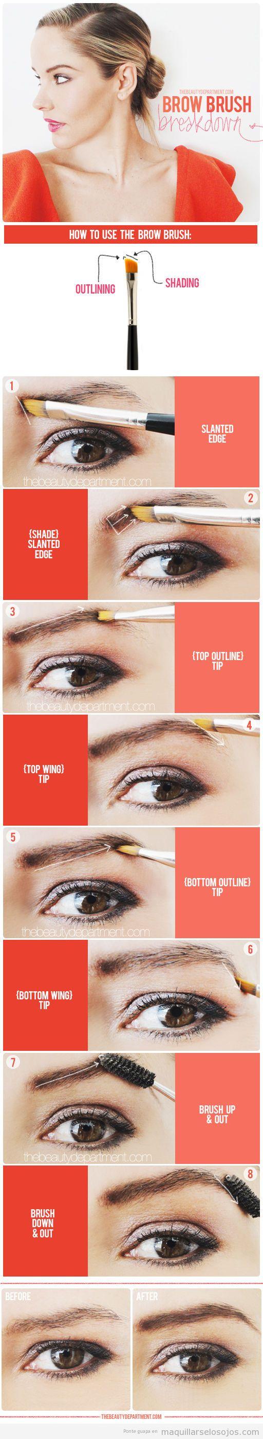Tutorial para aprender a maquillarse las cejas con pincel
