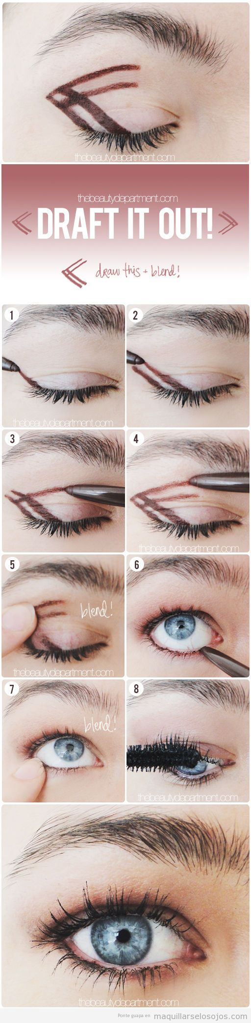 Tutorial con un truco para hacer un maquillaje de ojos ahumado