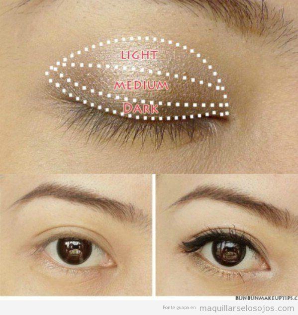 Tutorial para aplicar correctamente sombra de ojos