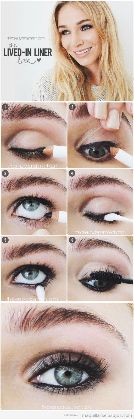 Tutorial maquillaje ojos ahumado fácil con lápiz y bastoncillos