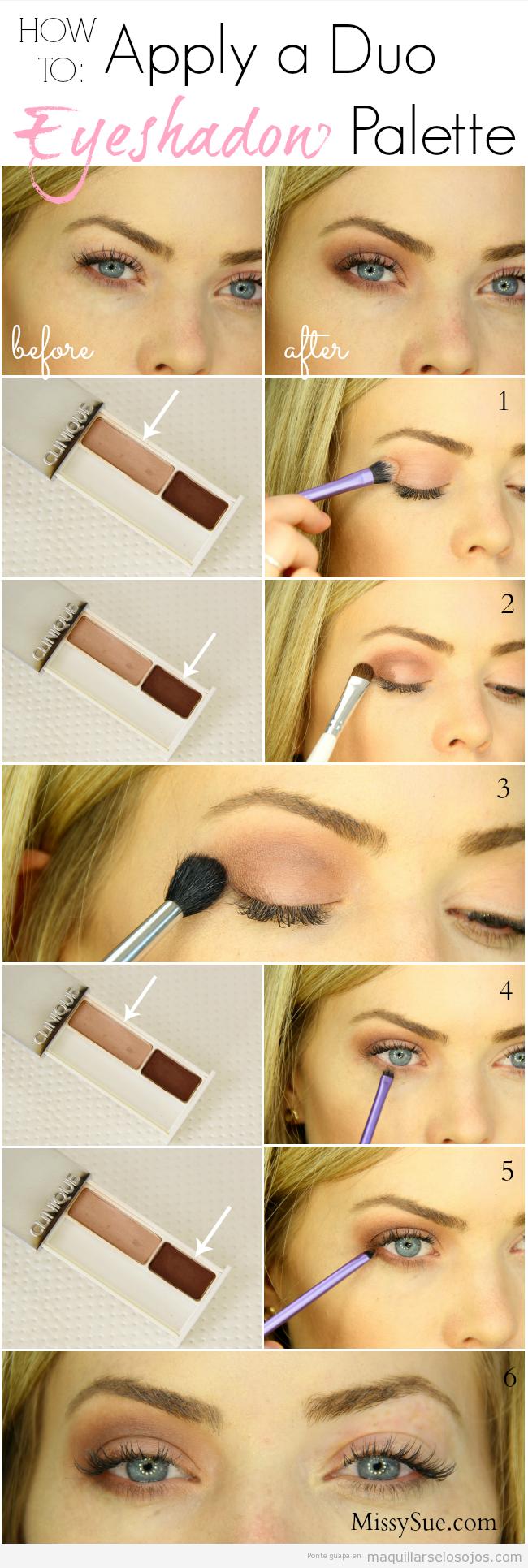 Tutorial para aprender a aplicar sombra de ojos de dos colores