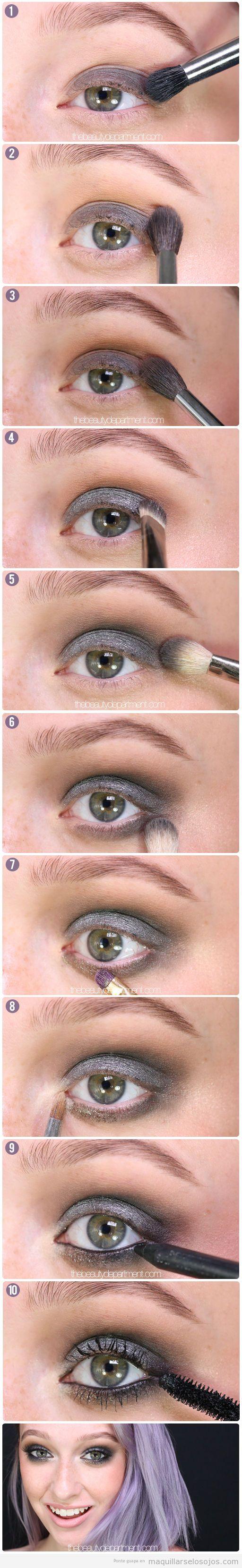 Tutorial maquillaje de ojos otoño en tonos grises ahumados
