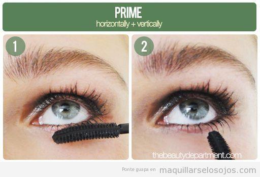 Tutorial para aprender a maquillar las pestañas inferiores 1