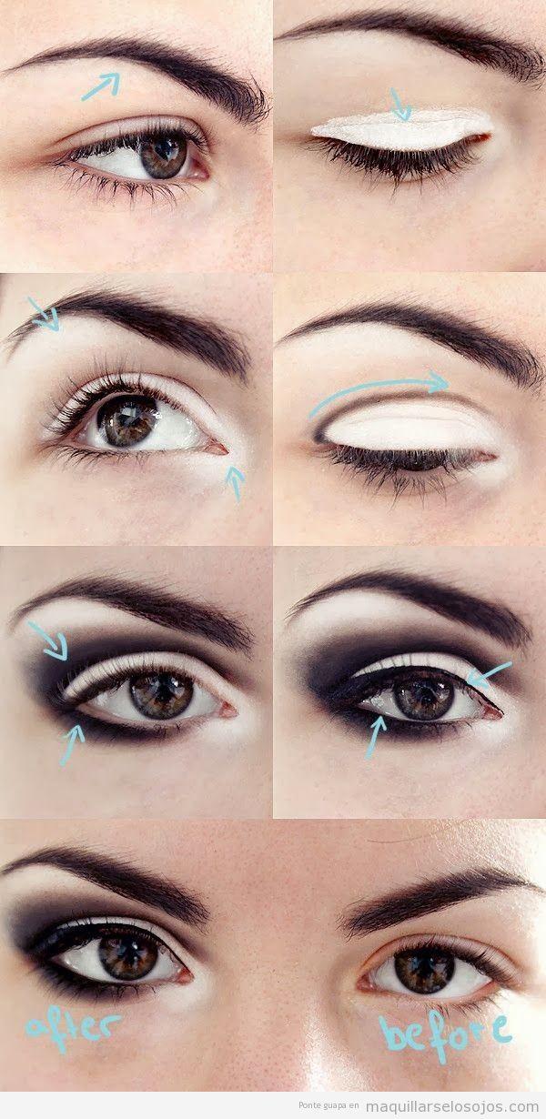 Truco maquillaje ojos, tutorial hacerlos más grandes