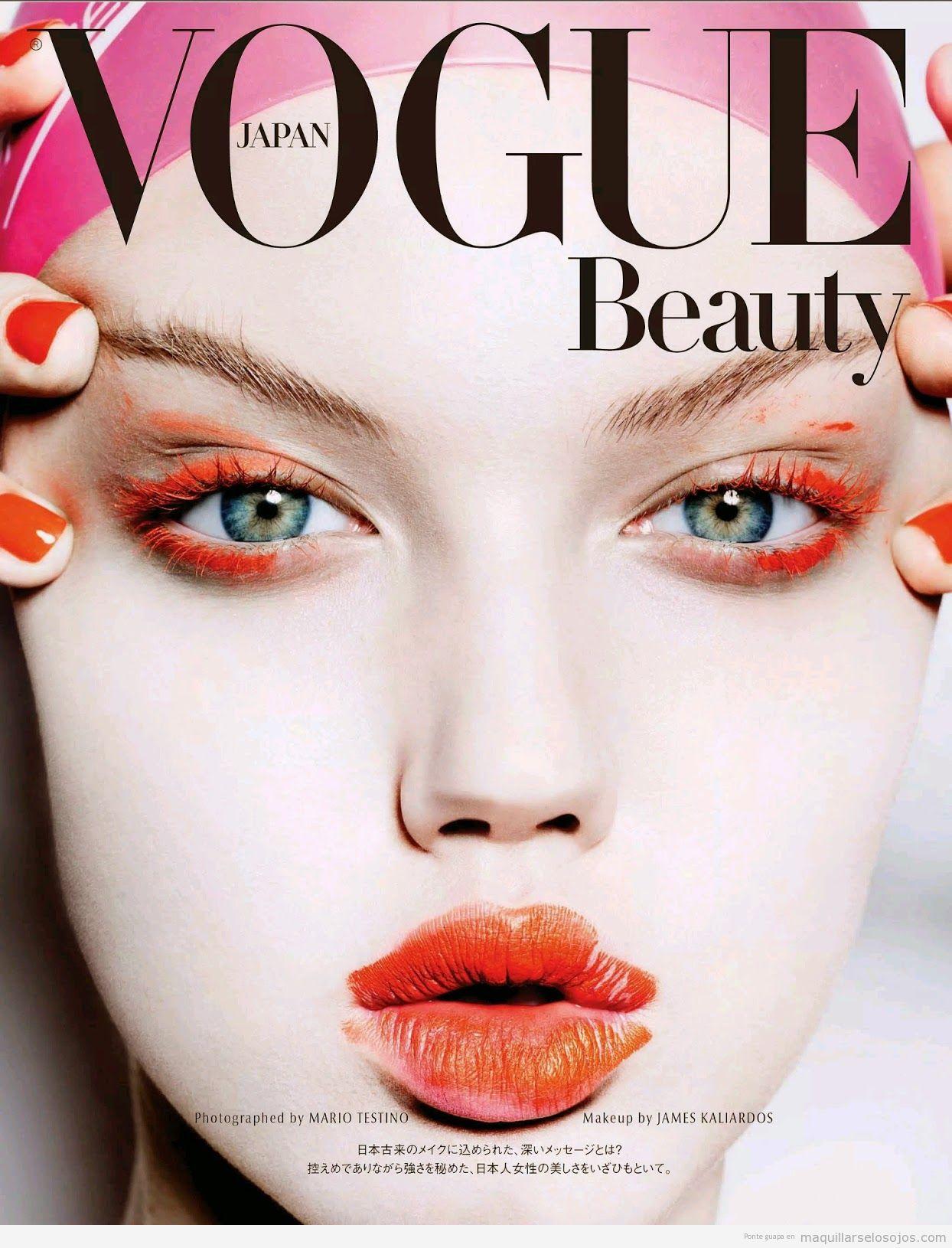 Maquillaje de ojos, Lindsey Wixson en Vogue Japón Noviembre 2014 issue