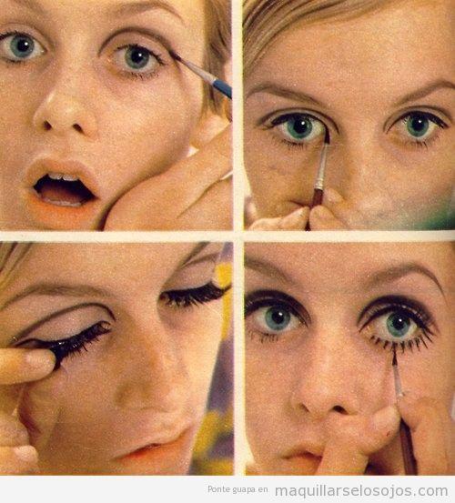 Tutorial paso a paso para pintarse los ojos como la modelo Twiggy