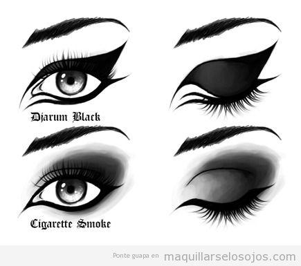 Dos formas de maquillarse los ojos para estilo gótico, emo o dark