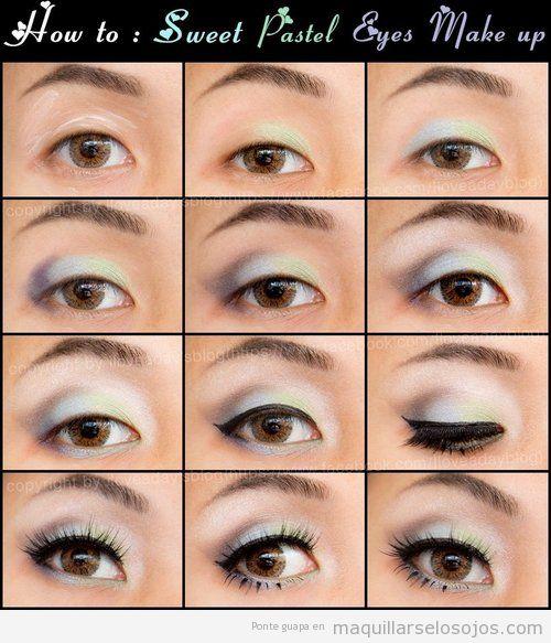 Ojos achinados archivos maquillarse los ojos - Como maquillarse paso apaso ...
