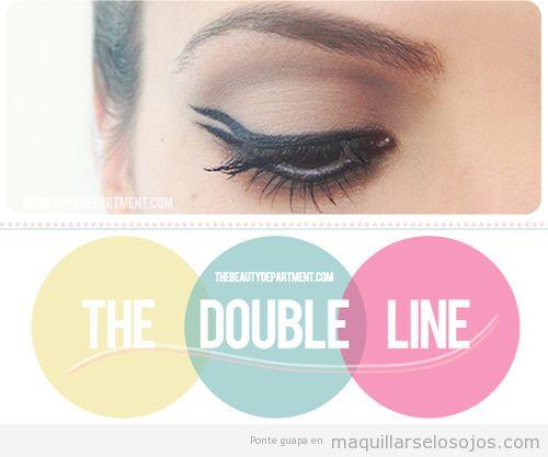 Doble línea eyeline en maquillaje de ojos