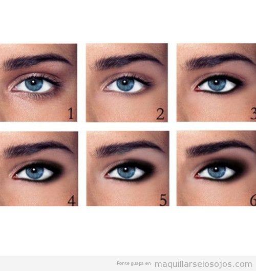 Tutorial con fotos para aprender paso a paso a maquillarse los ojos ahumados
