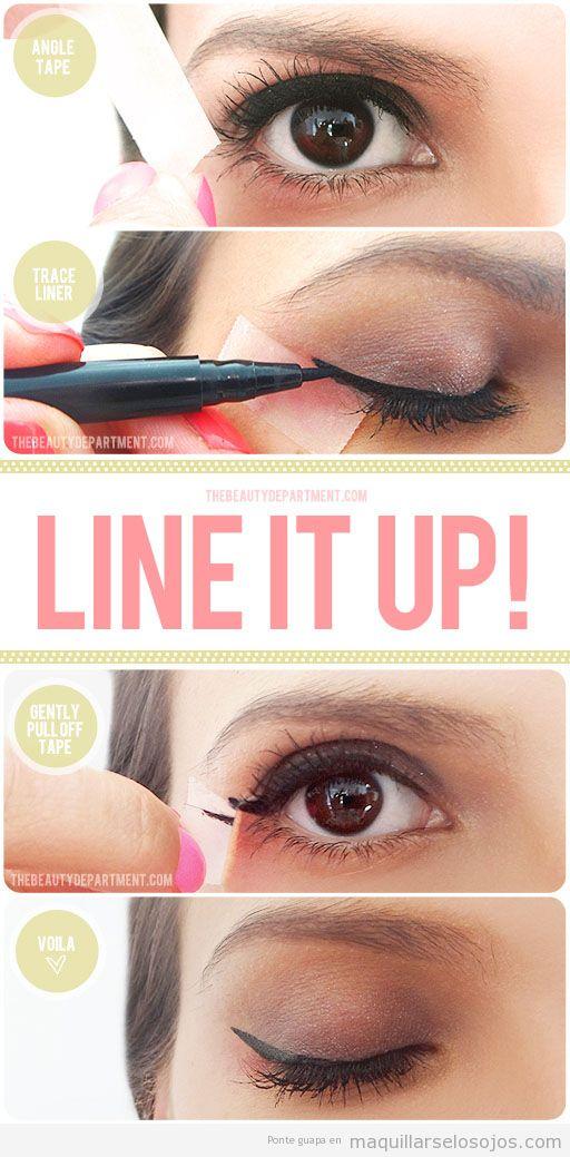 Truco para pintar de forma fácil el eyeline o perfilador de ojos