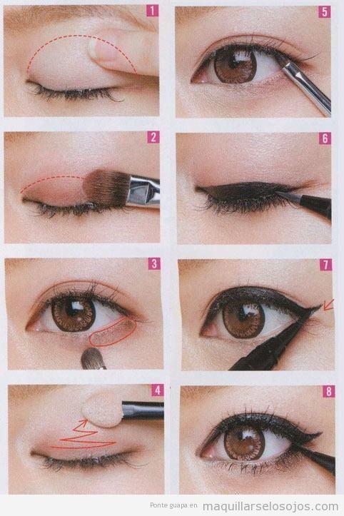 Tutorial para aprender a maquillarse los ojos con perfilador negro paso a paso