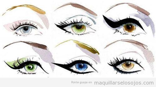 Seis maneras distintas de perfilar los ojos o dibujar un eyeline