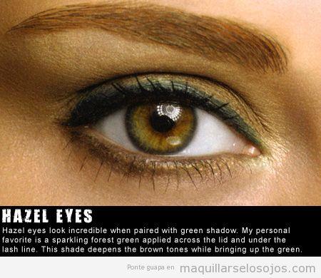Maquillaje de ojos para ojos marrones o color miel
