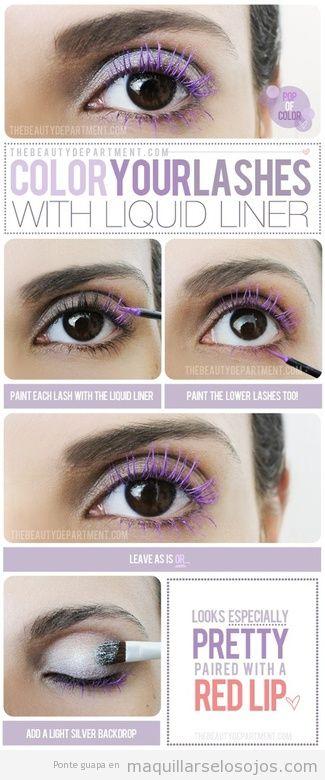 Tutorial para aprender paso a paso a pintar las pestañas con eyeliner líquido