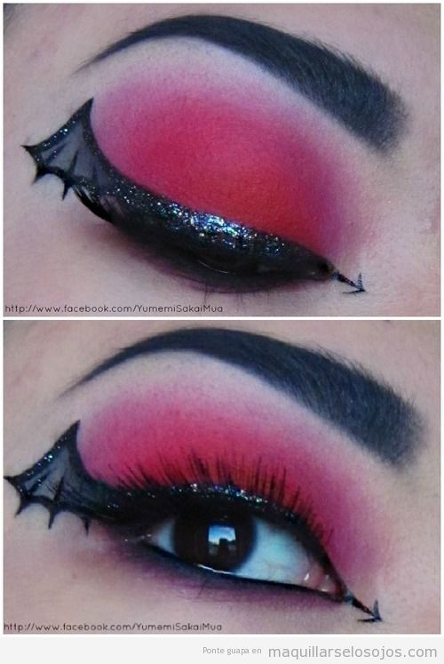 Maquillaje de ojos con telaraña, ideal para disfraz de vampira
