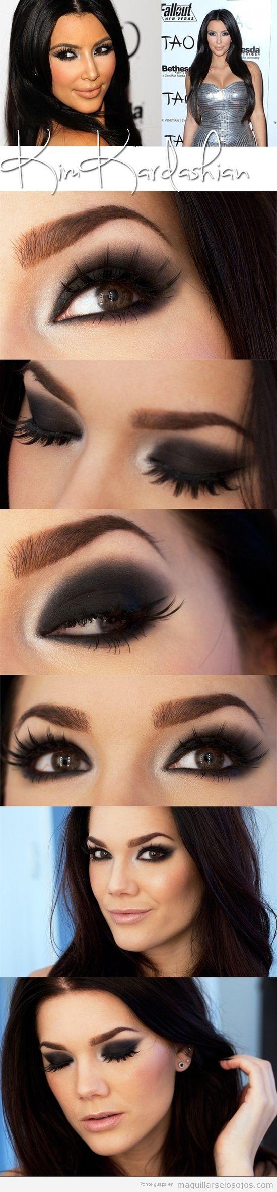 Maquillaje de ojos inspirado en Kim Kardashian