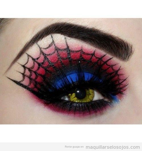 Maquillaje ojos mujer araña