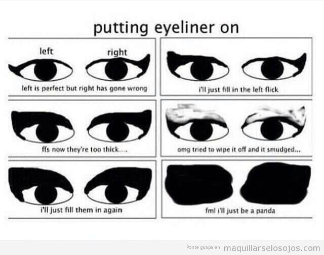 Fallos al pintar la linea del ojo