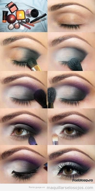 Maquillaje de ojos para morenas paso a paso for Como maquillar ojos ahumados paso a paso
