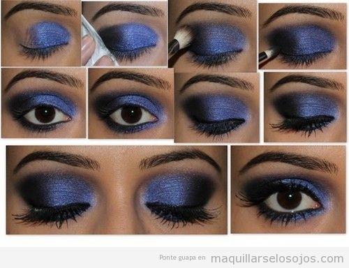 Tutorial paso a paso para maquillaje de ojos violeta en piel oscura