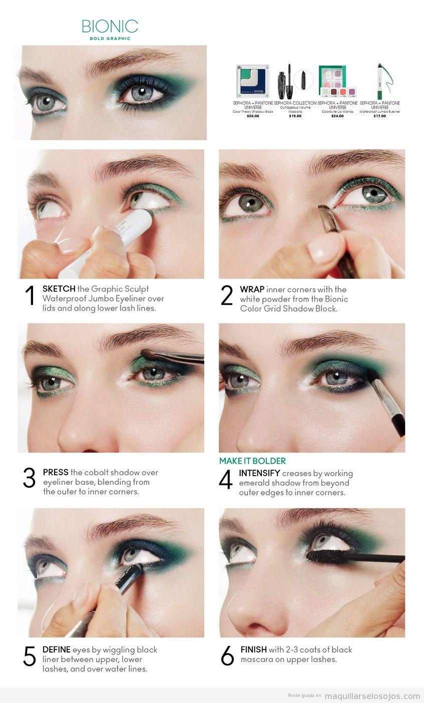 Tutorial maquillaje de ojos tonos verdes paso a paso