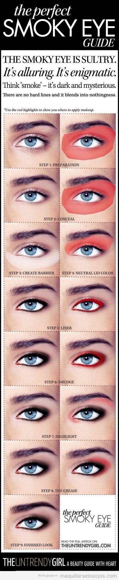Tutorial paso a paso para aprender maquillar ojos ahumados