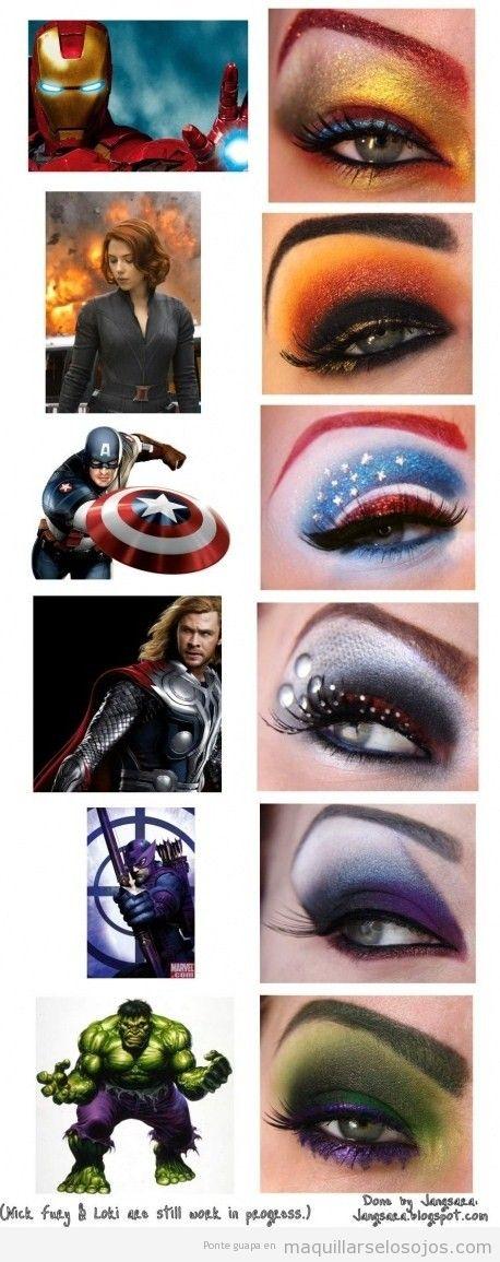 Maquillake de ojos estilo superhéroes