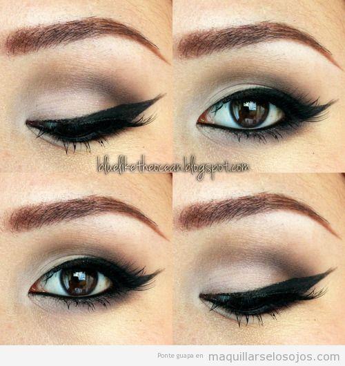 Maquillaje con una línea del ojo o eyeline sexy