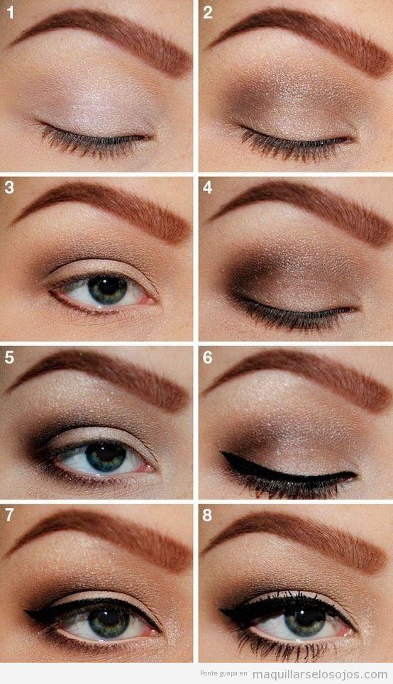 Tutorial para aprender a maquillar ojos ahumado con eyeliner negro