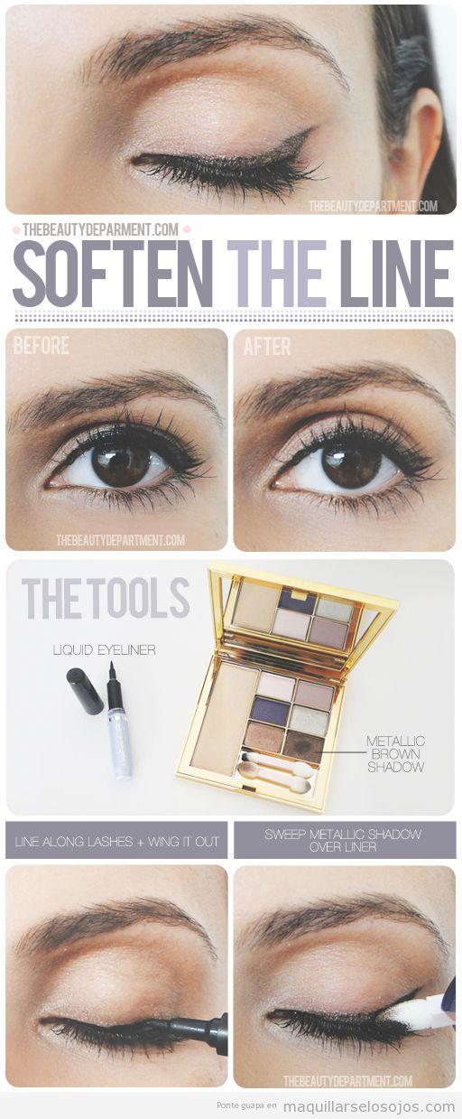 Tutorial paso a pas, truco maquillaje de ojos, suavizar el perfilado