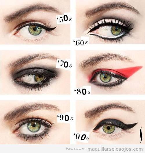 e15937bf8 Estilo de perfilador o eyeliner años 50, 60, 70, 80 y 90