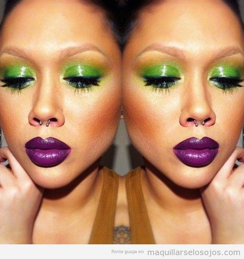Maquillaje de ojos en verde lima, primavera 2013
