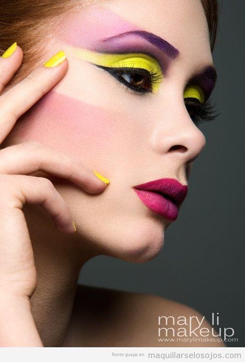 Maquillaje de primavera 2013 con sombra de ojos color  amarillo