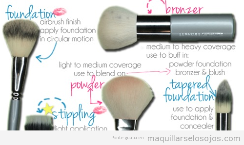 Para qué sirven pinceles base de maquillaje