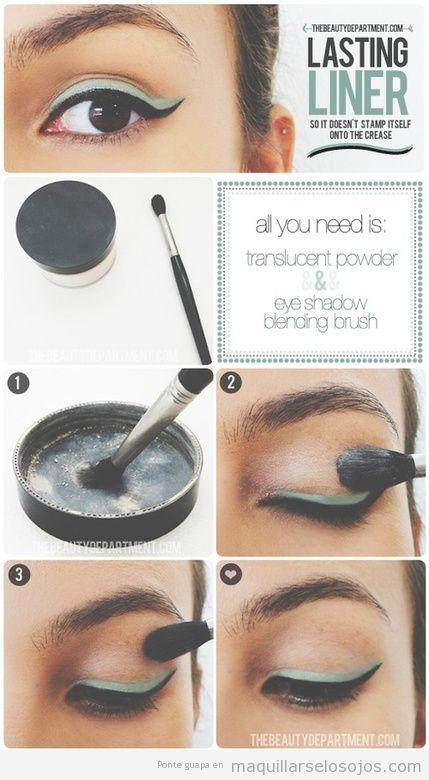 Truco para hacer que el eyeliner y maquillaje de ojos dure más