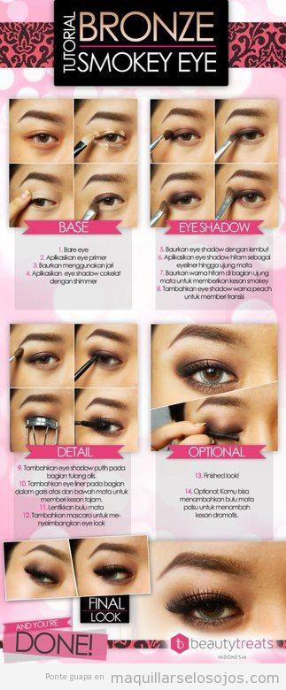 Tutorial paso a paso, aprender a maquillar ojos estilo ahumado
