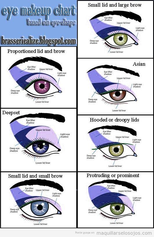 Tutorial para saber qué zona del ojo pintar según el efecto que quieras lograr