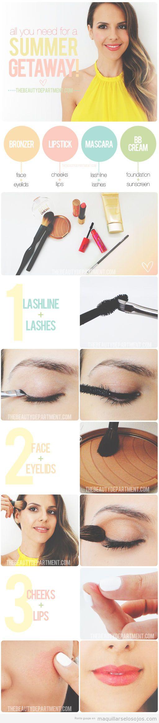 Tutorial para aprender a maquillarse los ojos, la cara y los labios para verano 2013
