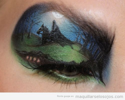 Maquillaje de ojos fantasía, caballero oscuro