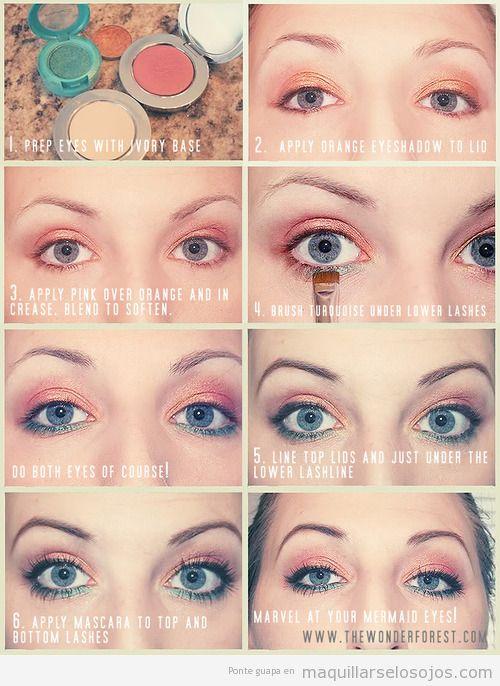 Tutorial para aprender a maquillar los ojos paso a paso, verano 2013